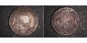 1 Thaler Sacro Imperio Romano (962-1806) Plata Rodolfo II (1552 - 1612)