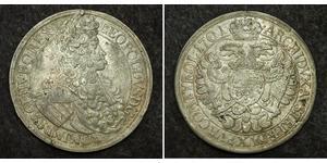 1 Thaler Sacro Imperio Romano (962-1806) Plata Leopoldo I de Habsburgo(1640-1705)