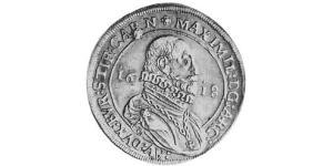1 Thaler Sacro Imperio Romano (962-1806) Plata Maximiliano III de Austria (1558 – 1618)