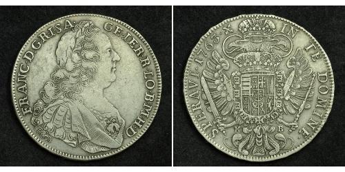1 Thaler Sacro Imperio Romano (962-1806) Plata Francisco I del Sacro Imperio Romano Germánico(1708-1765)