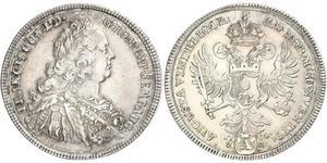 1 Thaler Sacro Imperio Romano (962-1806) / Augsburgo (1276 - 1803) Plata Francisco I del Sacro Imperio Romano Germánico(1708-1765)