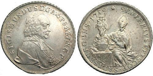 1 Thaler Salzburgo Plata Sigismund von Schrattenbach