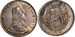 1 Thaler Salzburgo / Austria Plata Hieronymus von Colloredo (1732 - 1812)