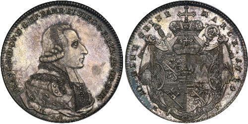 1 Thaler States of Germany Plata Franz Ludwig von Erthal (1730 - 1795)