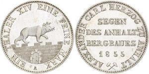 1 Thaler Anhalt-Bernburg (1603 - 1863) Silber Alexander Carl ,Anhalt-Bernburg (1805 – 1863)