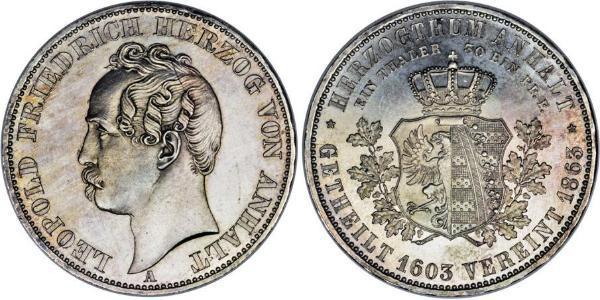 1 Thaler Anhalt-Dessau (1603 -1863) / Anhalt (1806 - 1918) Silber Leopold IV. Friedrich (Anhalt-Dessau)(1794 – 1871)