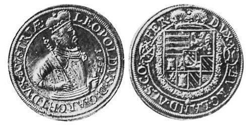 1 Thaler Elsass Silber Leopold V. , Österreich-Tirol (1586 – 1632)