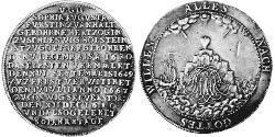 1 Thaler Fürstentum Anhalt-Zerbst  (1544 - 1796) Silber Karl Wilhelm (Anhalt-Zerbst)(1652 – 1718)