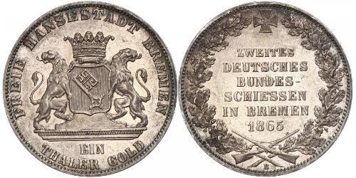 1 Thaler Freie Hansestadt Bremen / States of Germany Silber