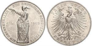1 Thaler Freie Stadt Frankfurt Silber