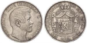 1 Thaler Großherzogtum Hessen (1806 - 1918) Silber Ferdinand (Hessen-Homburg)