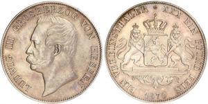 1 Thaler Großherzogtum Hessen (1806 - 1918) Silber Ludwig III. (Hessen-Darmstadt)