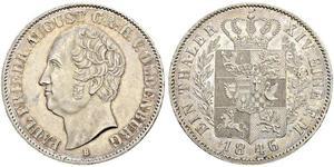 1 Thaler Großherzogtum Oldenburg (1814 - 1918) Silber August I. (Oldenburg)