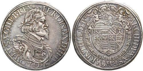 1 Thaler Habsburgermonarchie (1526-1804) Silber Ferdinand III, Holy Roman Emperor (1608-1657)