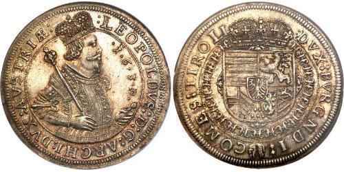 1 Thaler Habsburgermonarchie (1526-1804) Silber Leopold V. , Österreich-Tirol (1586 – 1632)