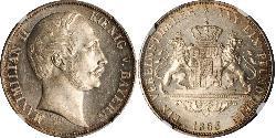 1 Thaler Königreich Bayern (1806 - 1918) Silber Maximilian II. Joseph (Bayern)(1811 - 1864)