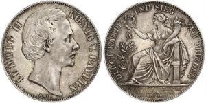 1 Thaler Königreich Bayern (1806 - 1918) Silber Ludwig II. (Bayern)(1845 – 1886)