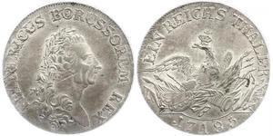 Münze 1 Thaler Königreich Preußen 1701 1918 Silber 1786 Friedrich