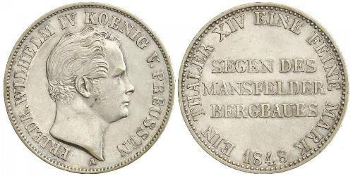 1 Thaler Königreich Preußen (1701-1918) Silber Friedrich Wilhelm IV. (1795 - 1861)