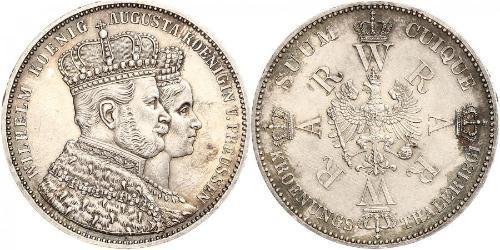 1 Thaler Königreich Preußen (1701-1918) Silber Wilhelm I, German Emperor (1797-1888)