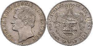 1 Thaler Königreich Sachsen (1806 - 1918) Silber Johann (Sachsen)
