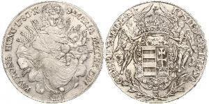 1 Thaler Königreich Ungarn (1000-1918) Silber Joseph II, Holy Roman Emperor  (1741 - 1790)