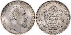 1 Thaler Königreich Württemberg (1806-1918) Silber Karl (Württemberg)