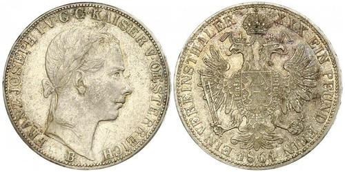 1 Thaler Kaisertum Österreich (1804-1867) Silber Franz Joseph I (1830 - 1916)