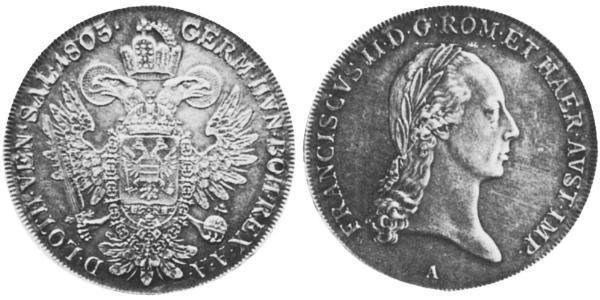 1 Thaler Kaisertum Österreich (1804-1867) Silber Francis II, Holy Roman Emperor (1768 - 1835)