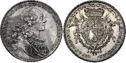1 Thaler Liechtenstein Silber Joseph Wenzel of Liechtenstein (1696 - 1772)