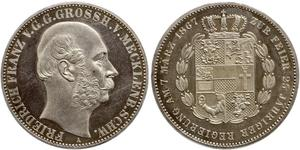 1 Thaler Mecklenburg-Schwerin (1352-1918) Silber Friedrich Franz II. (Mecklenburg)