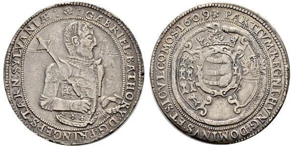 1 Thaler Principality of Transylvania (1571-1711) Silber Gabriel Báthory(1589 – 1613)