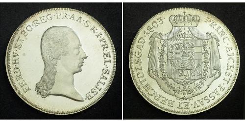 1 Thaler Salzburg Silber Ferdinand III, Holy Roman Emperor (1608-1657)