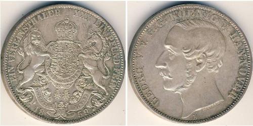 1 Thaler States of Germany Silber Georg V. (Hannover) (1819 - 1878)