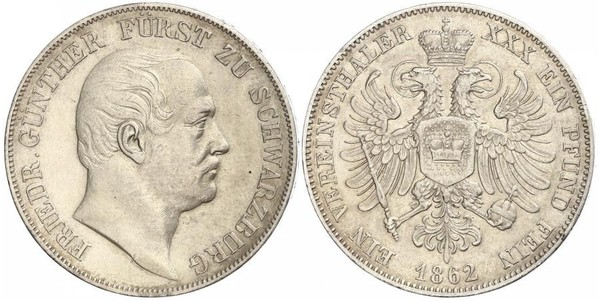 1 Thaler States of Germany Silber