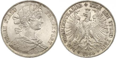 1 Thaler States of Germany / Deutschland Silber