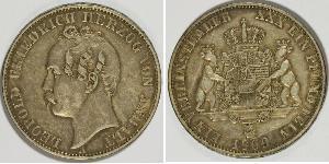 1 Thaler Anhalt-Dessau (1603 -1863) Silver Leopold IV, Duke of Anhalt (1794 – 1871)