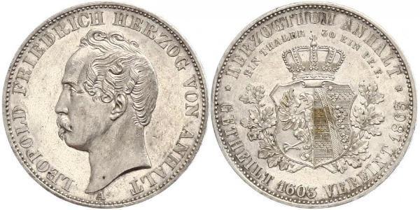 1 Thaler Anhalt-Dessau (1603 -1863) / Duchy of Anhalt (1806 - 1918) Silver Leopold IV, Duke of Anhalt (1794 – 1871)
