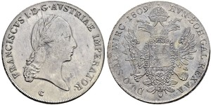 1 Thaler Austrian Empire (1804-1867) Silver Francis II, Holy Roman Emperor (1768 - 1835)