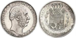 1 Thaler Duchy of Mecklenburg-Schwerin (1352-1918) Silver Frederick Francis II, Grand Duke of Mecklenburg-Schwerin