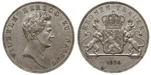 1 Thaler Duchy of Nassau (1806 - 1866) Silver William, Duke of Nassau