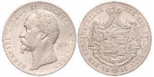 1 Thaler Duchy of Saxe-Meiningen (1680 - 1918) Silver Bernhard II, Duke of Saxe-Meiningen