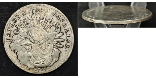 1 Thaler Electorate of Bavaria (1623 - 1806) Silver Maximilian III Joseph, Elector of Bavaria (1727 – 1777)