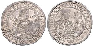 1 Thaler Electorate of Saxony (1356 - 1806) Silver Christian II, Elector of Saxony