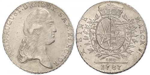 1 Thaler Electorate of Saxony (1356 - 1806) Silver Augustus II the Strong (1670 - 1733)