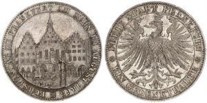 1 Thaler Free City of Frankfurt Silver