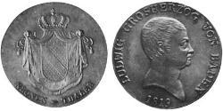 1 Thaler Grand Duchy of Baden (1806-1918) Silver Louis I, Grand Duke of Baden (1763 - 1830)