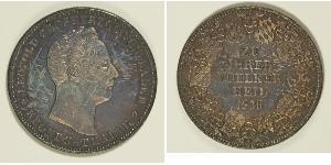 1 Thaler Grand Duchy of Baden (1806-1918) Silver Leopold, Grand Duke of Baden (1790 – 1852)