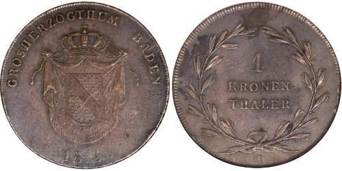 1 Thaler Grand Duchy of Baden (1806-1918) Silver Charles, Grand Duke of Baden (1786 – 1818)