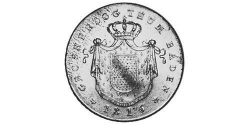 1 Thaler Grand Duchy of Baden (1806-1918) Silver